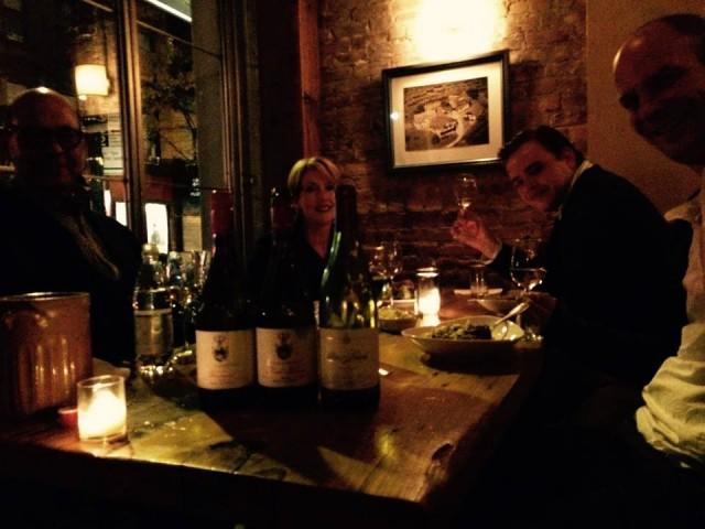 friends dinner wine