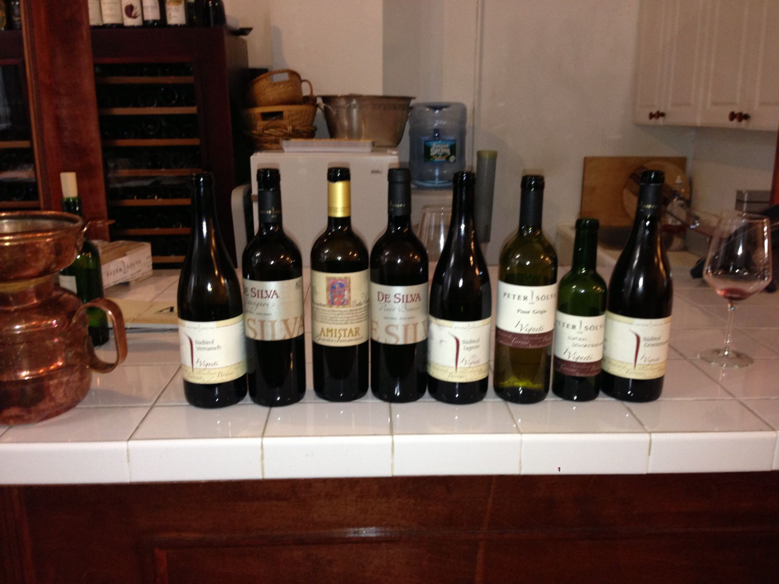 All the wines tasted