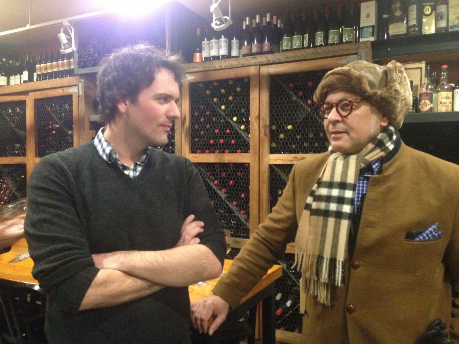 Tim Farrell (wine buyer of Brooklyn Wine Exchange) and Dino Tantawi