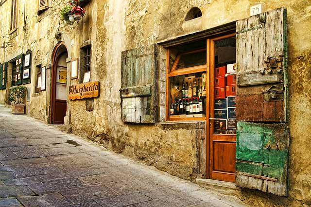 Italy street Tuscany